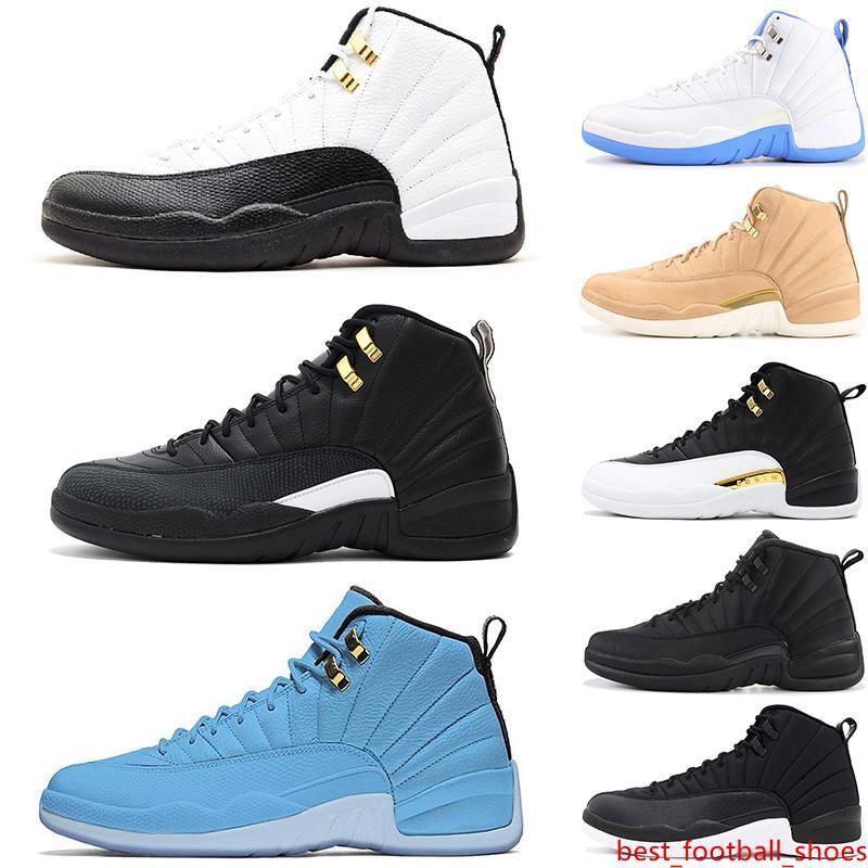 2019 para hombre y para mujer de los zapatos de baloncesto de las zapatillas de deporte 12S XII playoffs Universidad azul blanco OV gimnasia color blanco rojo de los zapatos de los hombres Deportes High Cut