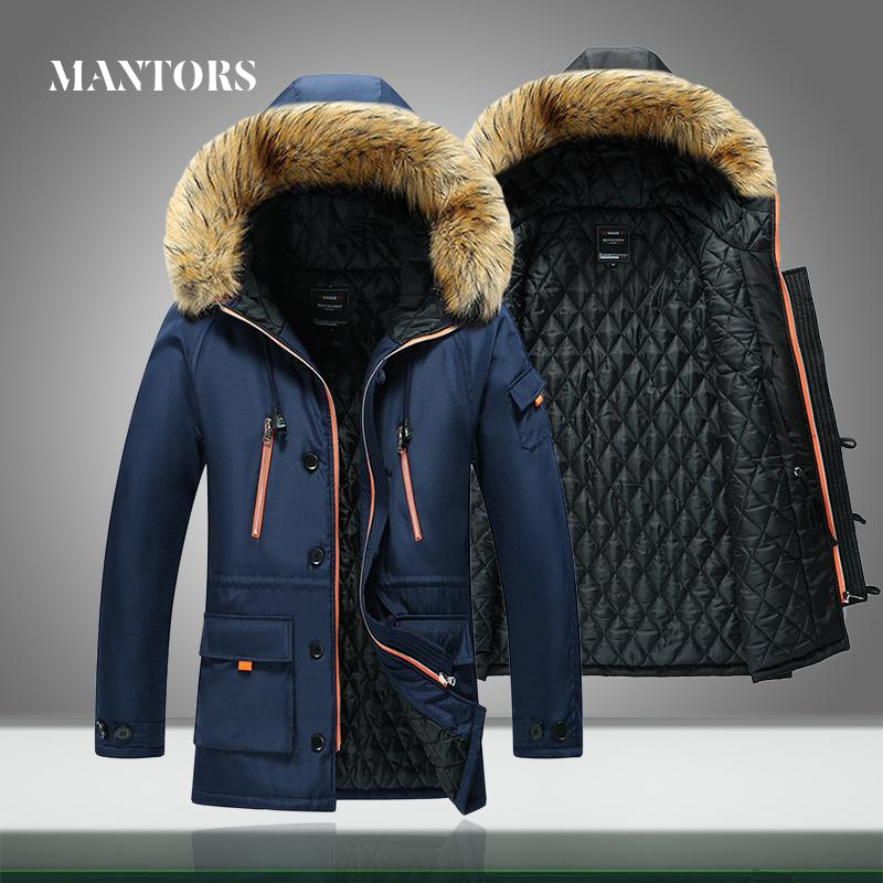 2020 Men Winter Jacket Fur Collar Casual Hooded Parka Down Jackets Mens Warm Thick Thermal Outdoor Overcoat Zipper Multi-pocket