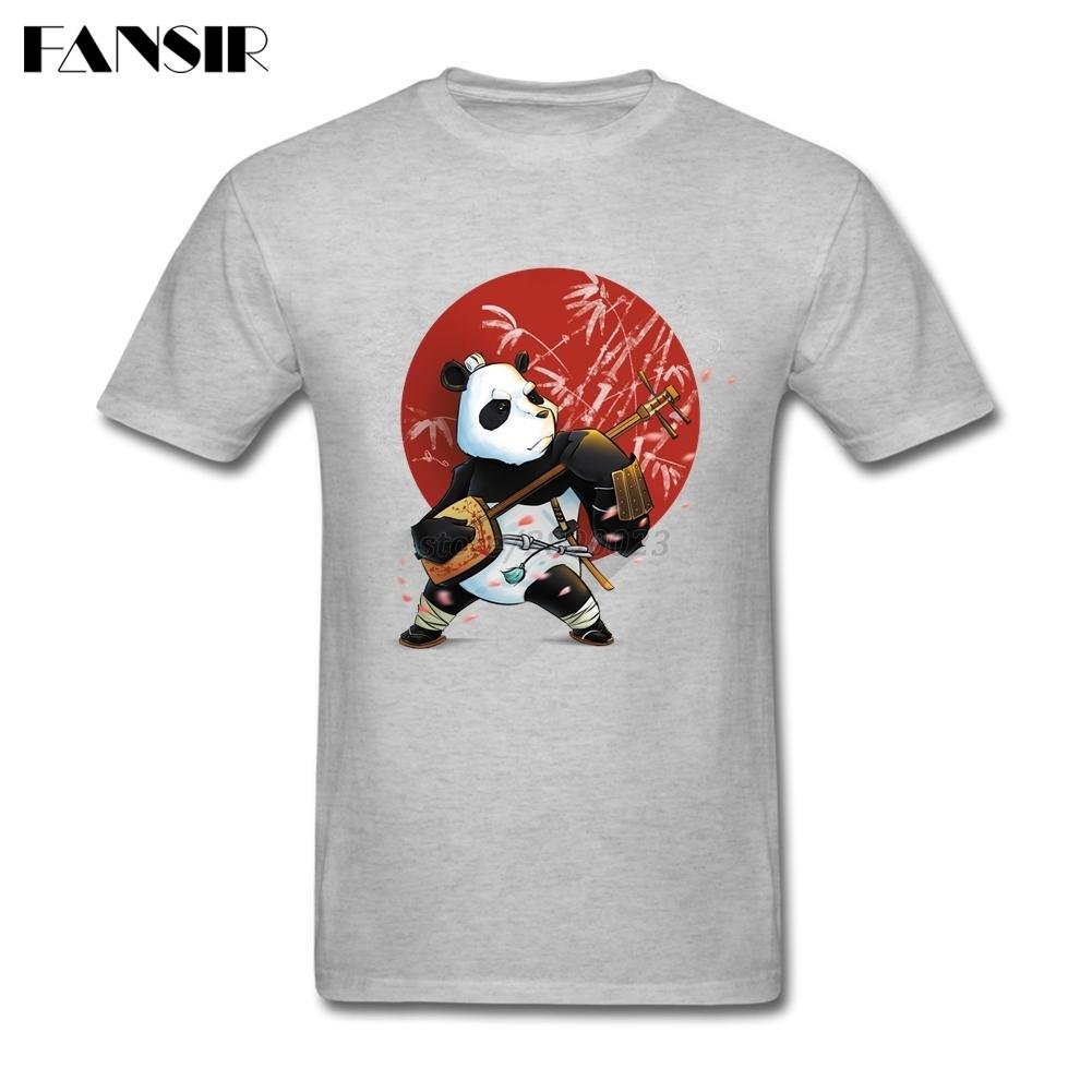 Panda guerrier Hommes T-shirts Mode T-shirts manches courtes hommes coton ras du cou Taille Plus Vêtements de Hauts pour l'équipe