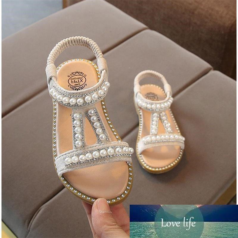 Filles d'été Princesse Sandales bande élastique Sandales Filles perle Décoration simple Chaussures Chaussures Enfants Performance 07
