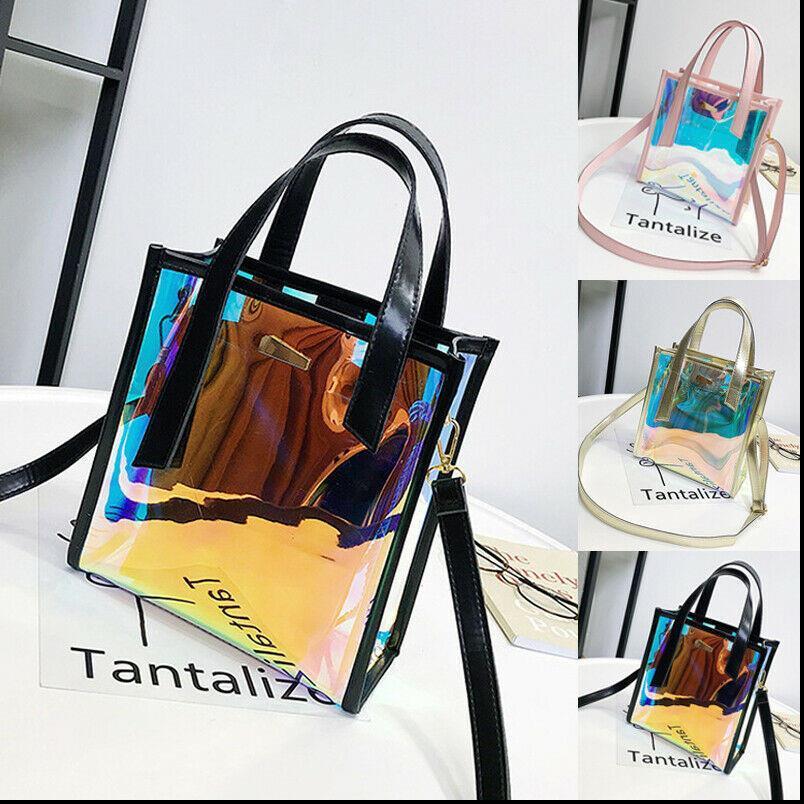Moda feminina Holograma Limpar Bolsas Transparente Messenger Bag Inner Bag Drop Shipping Boa Qualidade
