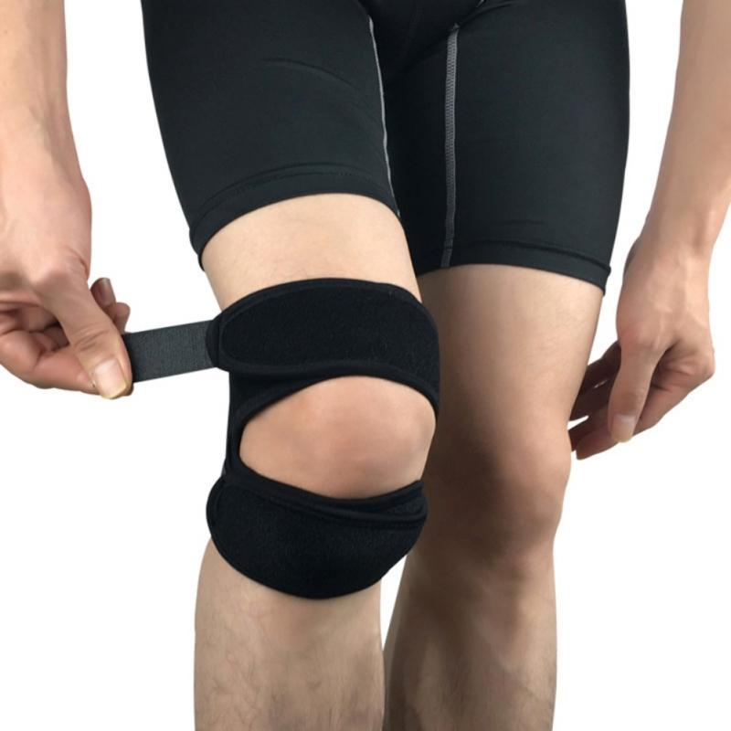 Running Sports Patella Brace Wrap Cap Stabilizer Cushioning Band Knee Support Adjustable Protective Knee Protector