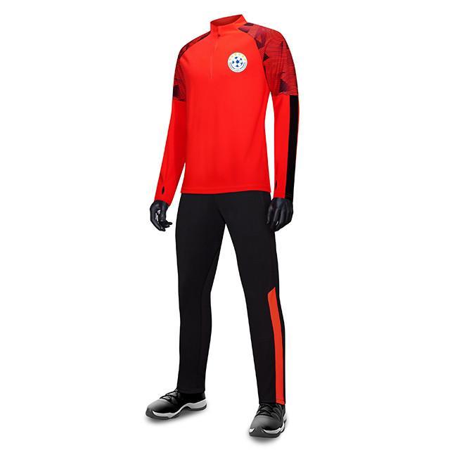 FF Kosovo FC Uomo Bambini all'ingrosso tuta sportiva di calcio di calcio Imposta Giacca manica lunga preparazione invernale caldo Sportswear