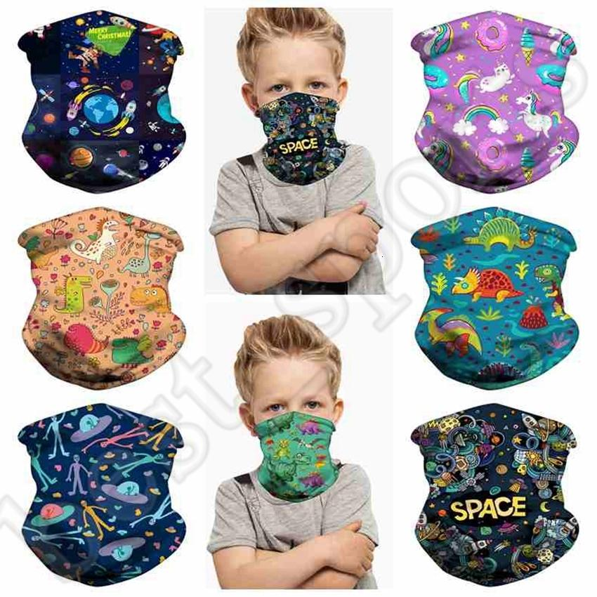 Los niños cara Máscara de protección de los niños dinosaurio ciclo al aire libre bufanda mágica diadema turbante historieta del flamenco Pañuelos CYZ2532 200Pcs