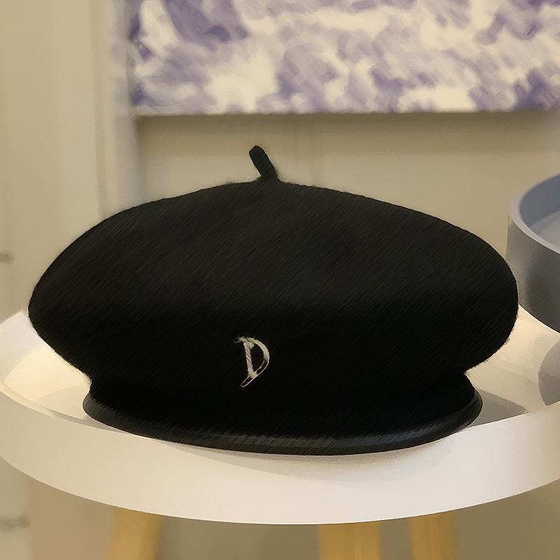 mujeres boinas accesorios de invierno otoño del resorte casquillo de la señora negro de lana de sombrero de copa de Navidad elementos presentes moda vanguardista de tipo casquillo de la manera