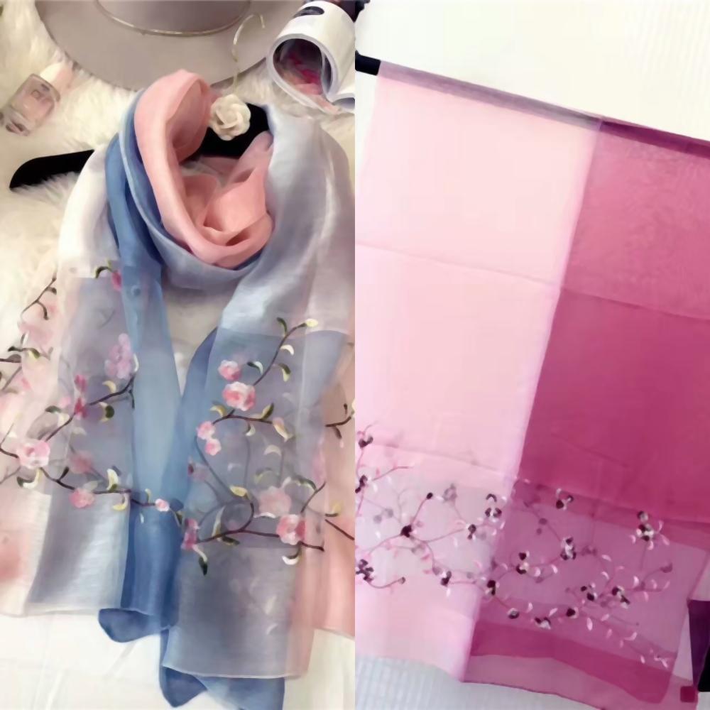 ZGu9l Selling concepteurs de style chinois haut de gamme de la mode fleurs écharpe de soie qualité dame printemps été de broderie et nouveau cm écharpe imprimée