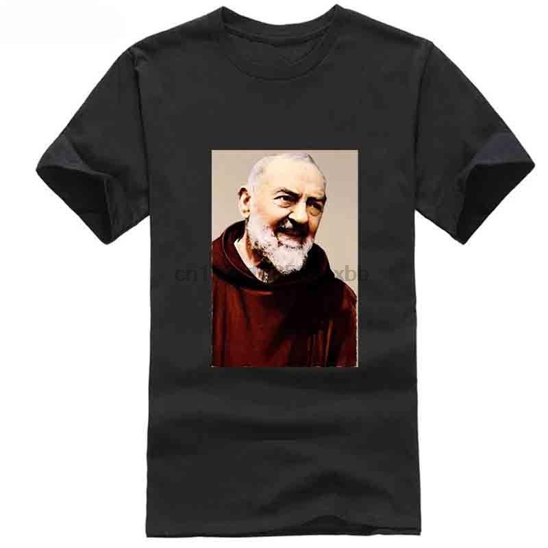 Padre Pio --- Khaki maglietta tutte le taglie S-5XL RETRO VINTAGE classico cappello abito t-shirt rosa t-shirt bianco nero grigio pantaloni rossi