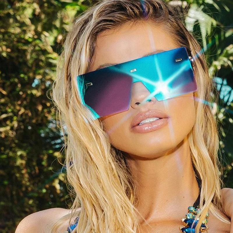 Eyewear Big 2020 Donna Donne Sun Glass Brecine Vintage Uomo Retrò Occhiali da sole Occhiali da sole Occhiali da sole Rimless UV400 OSCBG