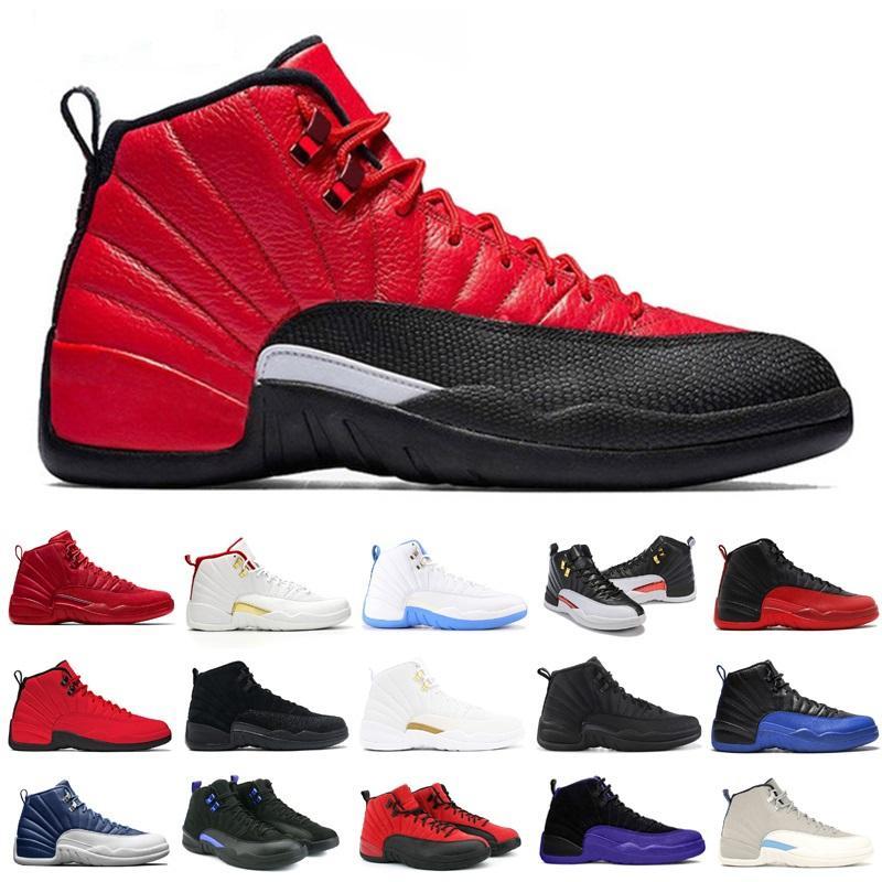 12s Erkekler Jumpman 12 basketbol ayakkabıları ters gribi oyunu Karanlık Üniversitesi Mavi Concord spor Sneakers 7-13 mens