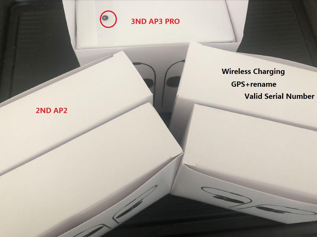 Переименуйте AP2 AP3 Беспроводные наушники Chip Chip Wireless Case Case Optial IN-EAVE DEASE CODS PK AIR 3 PRO AP Pro 2-й 3-й наушники