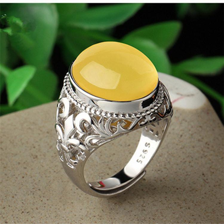 Solid 925 sterling silver adjustable Iris flower fleur-de-lys fleur-de-lis hollow cut blank Semi Mount 18*13mm Ring base holder