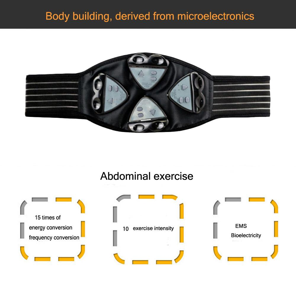 Freeshipping Wireless Muscle Stimulator Trainer Smart Fitness Abdominal Training Electric Weight Loss belt Body Slimming 4 Controllers