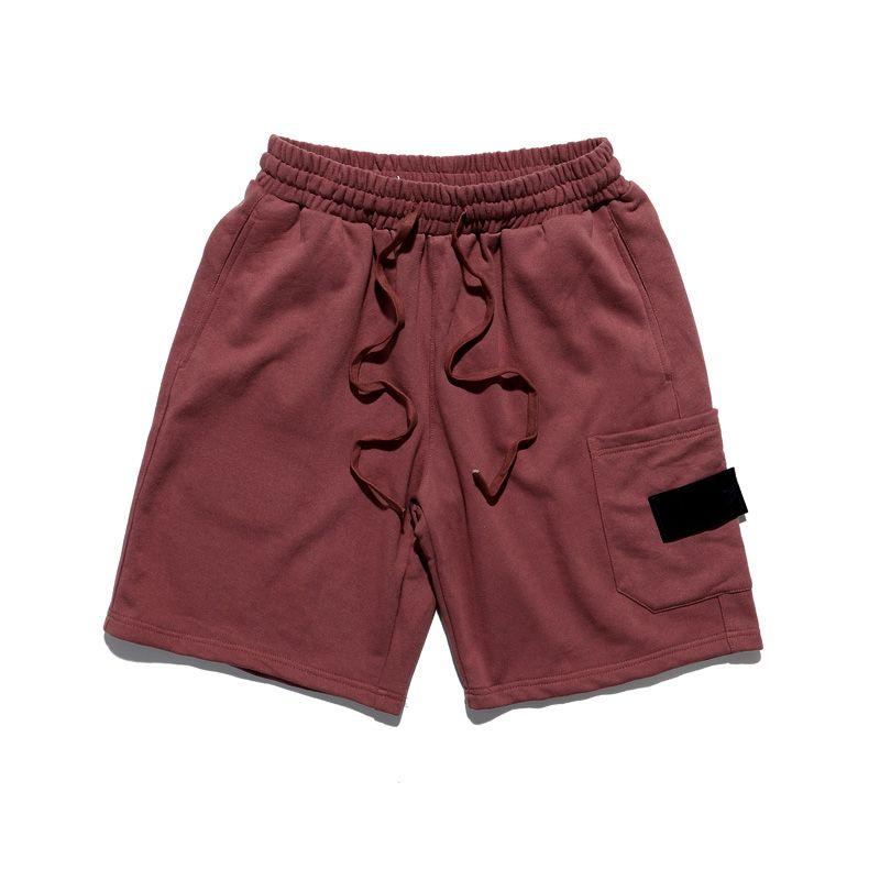 Pantaloni Lettera Mens Shorts Moda ricamo brevi 20s Uomo Casual uomini respirabili ginocchio Shorts Lunghezza estate 2 colori M-2XL1
