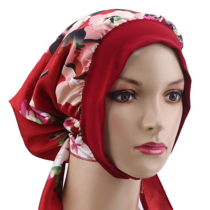 Riding Cycling Cap Headscarf Ladies Autumn Hiking Turban Hat Ladies Satin Headdress Ribbon Hair Accessories Hair Band Braid Hat