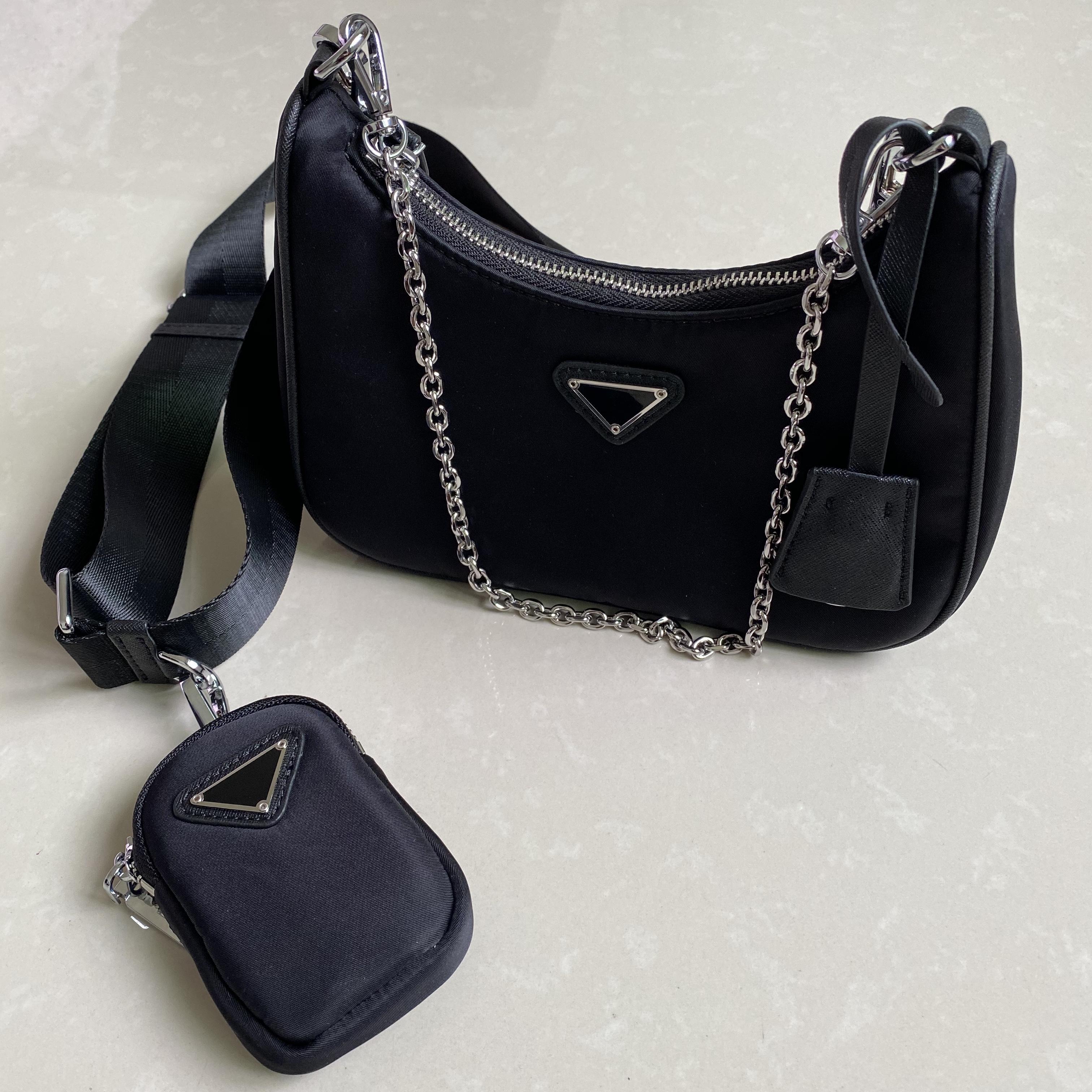 والأكثر مبيعا المصممين نايلون حقائب الكتف حقيبة يد حقيبة يد الموضة luxurys محفظة يكيس سرج ثلاثة أكياس قطعة مزيج حمل