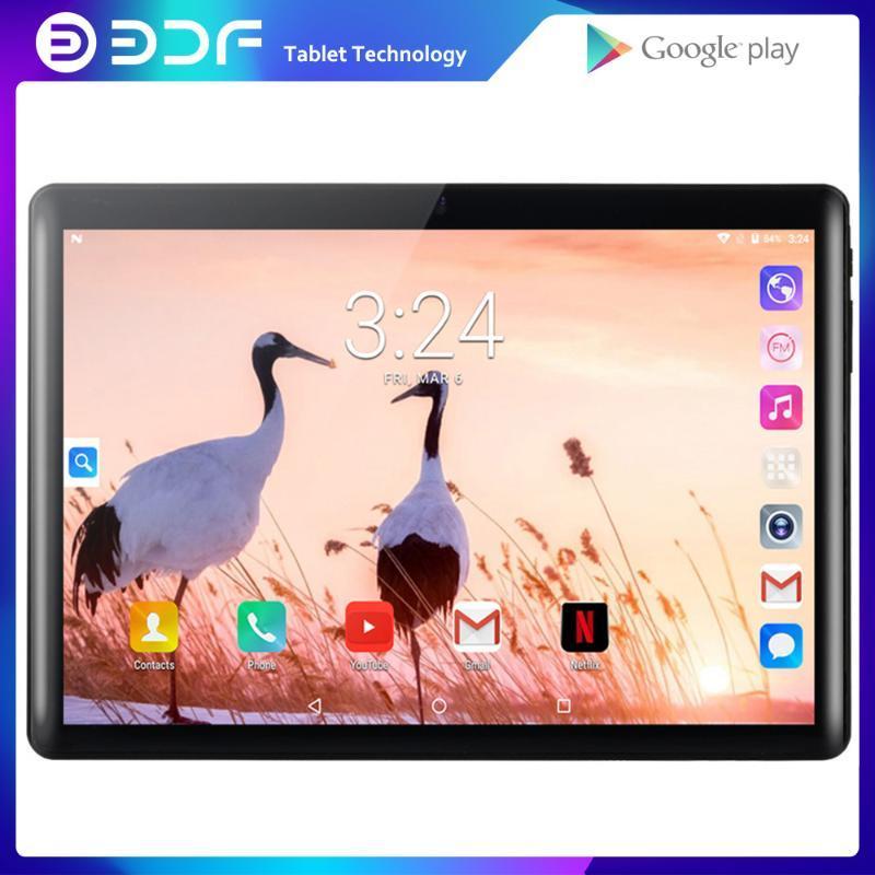 BDF YENİ 10.1 inç Dört Çekirdekli Android 7.0 Tablet PC Google Play bu Telefon Görüşmesi 1GB + 32GB 3G Çift SIM Kart 1280x800 Ekran GPS sekmesi