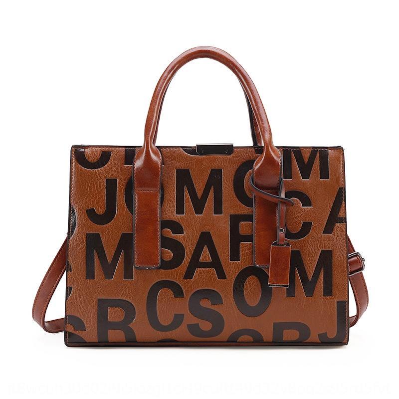 Z7lx5 femmes lettre nouveau style 2020 grand sac sac à bandoulière messager capacité de motif en relief portable épaule i2Rst