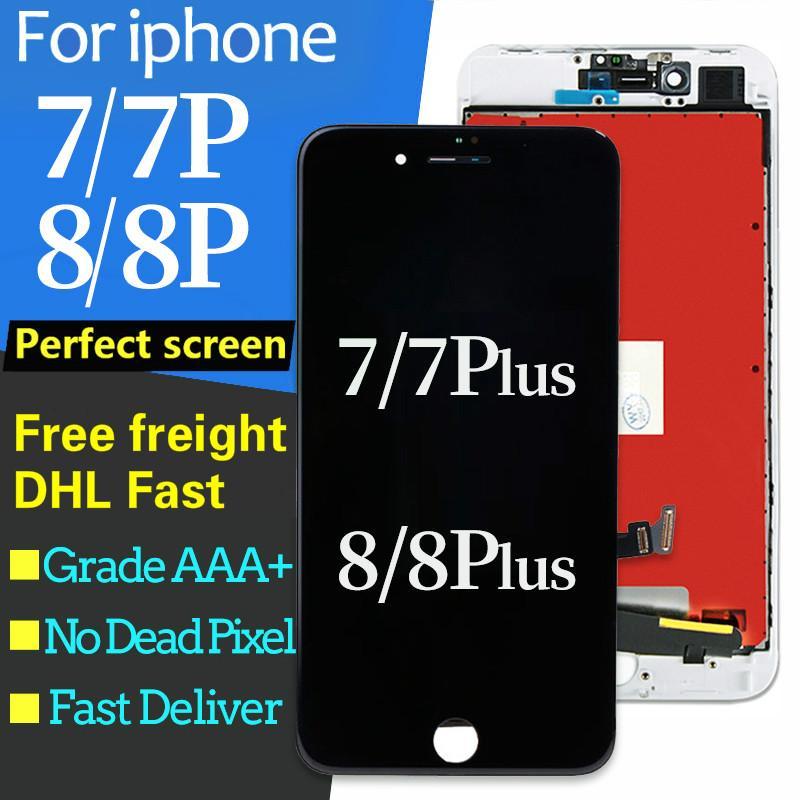 Para el iphone 7 7 más pantalla LCD de pantalla táctil digitalizador Asamblea 3D táctil para el iPhone 8 Plus Pantalla LCD 7plus 8Plus