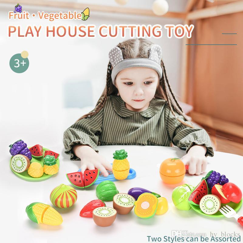 Bambini pretendisci il ruolo Cucina educativa Plastica Colorato Frutta Giocattolo GIOCATORE Verdure Cibo Bambini Giocattoli Taglio Casa Magnetica Baby Rwxto