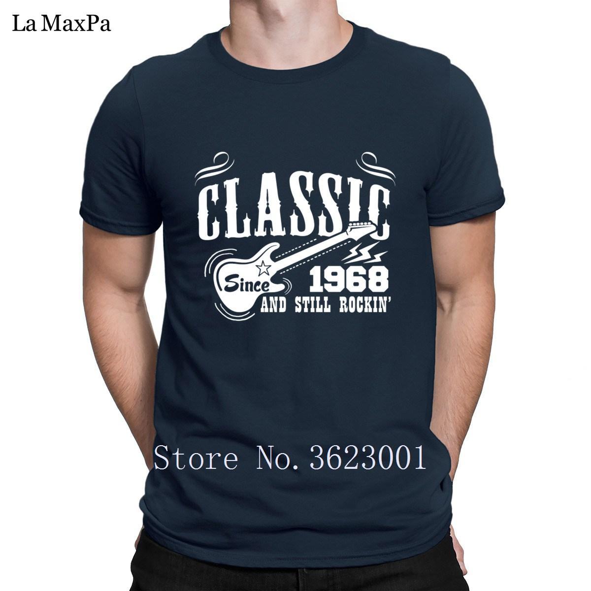 Stampato tempo libero T shirt Uomo classica dal 1968 ed ancora delle magliette Rockin da uomo maschio Funky per gli uomini formato del regalo più
