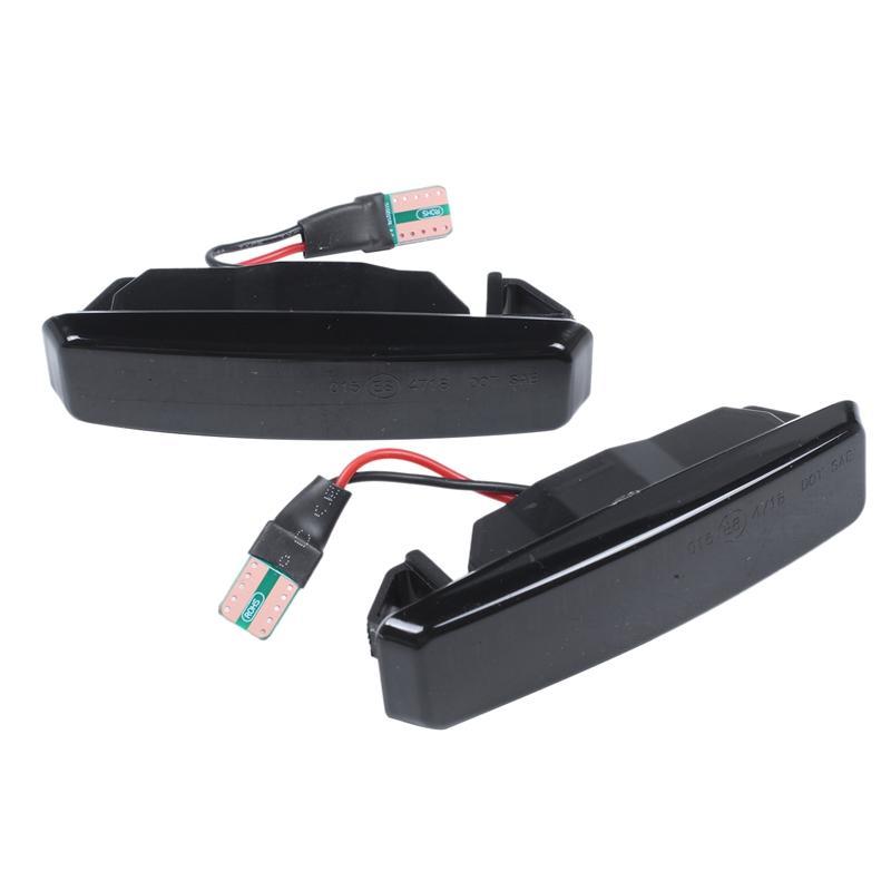 2pcs Dynamic Marker LED Light Car Fender côté jaune qui coule séquentiel tour signal lumineux pour les fournitures E39 Tuning