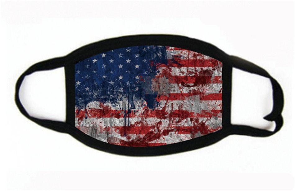 2020 Maschera per il viso maschere elezioni americane Bocca antipolvere maschera per adulti e bandiera americana Maschere Designer IIA306 # 685