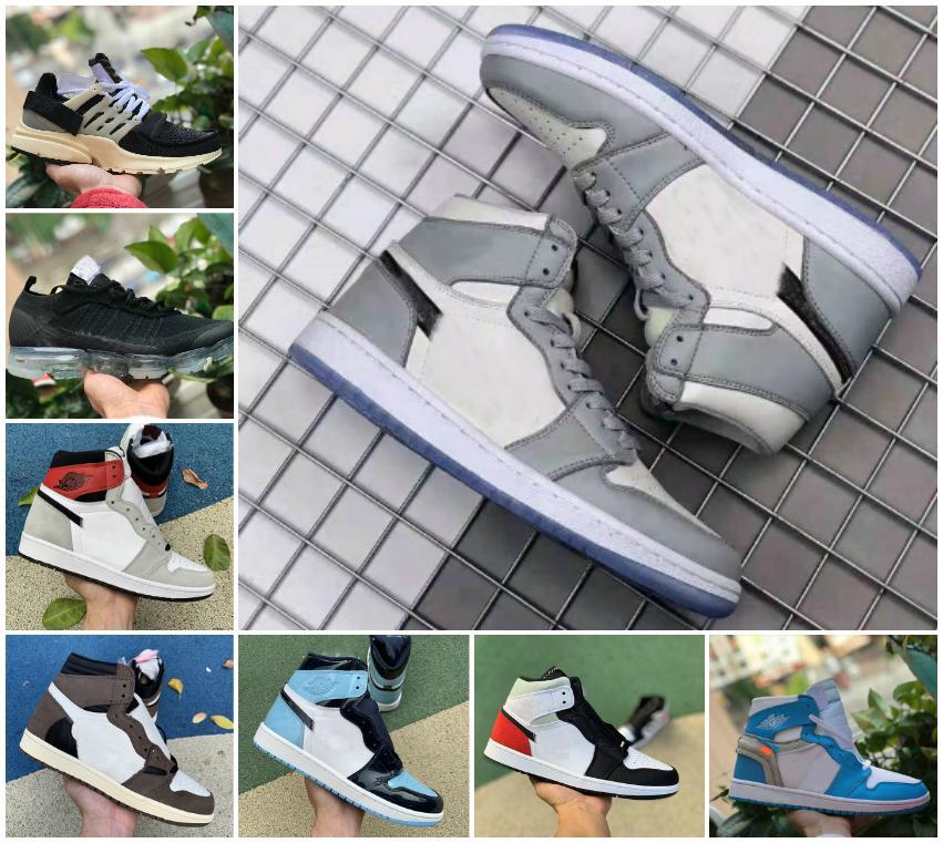 Jumpman Yüksek 1 OG GS X-Men Basketbol Ayakkabı Obsidian ASG UNC Crimson Ton Korkusuz Yasaklı Retroes 1s Chicago White Presto Gri Spor Ayakkabı