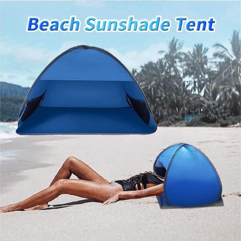 Yaz Plaj Güneşlenme Windproof Kum Kanıtı Playhouse için Taşınabilir Güneş Barınak Mini Baş Yukarı Çadır Açık Kamp Çadırı