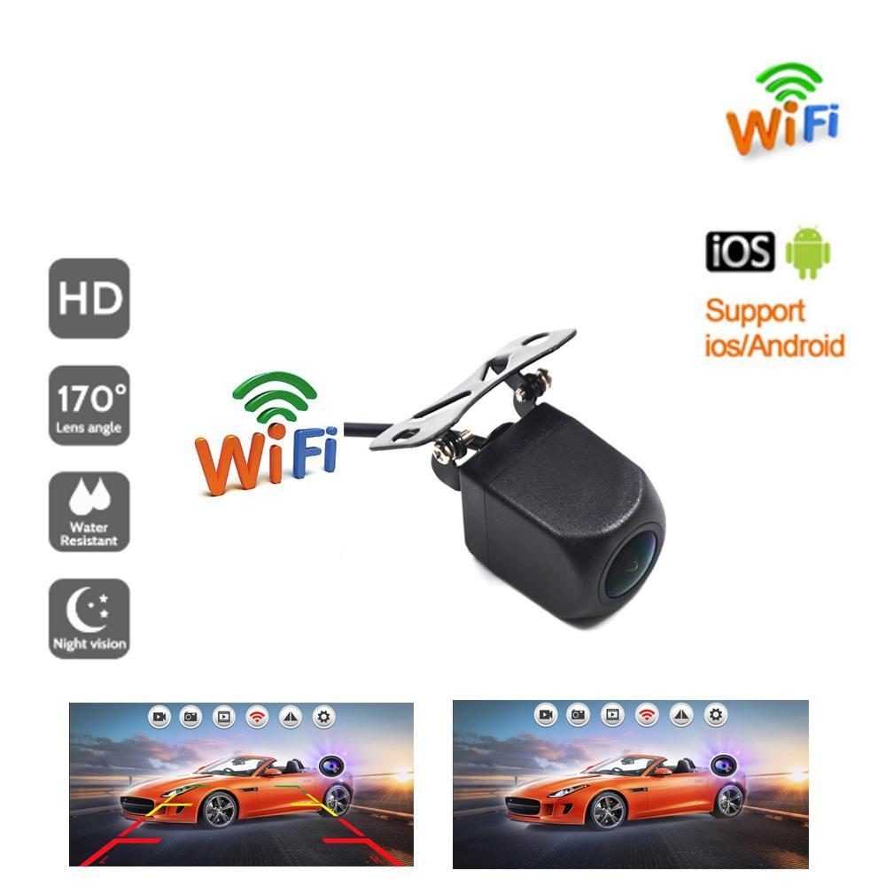 무선 자동차 후면보기 카메라 wifi 반전 카메라 대시 캠 HD 나이트 비전 미니 바디 타코 그래프 전화 및 안드로이드