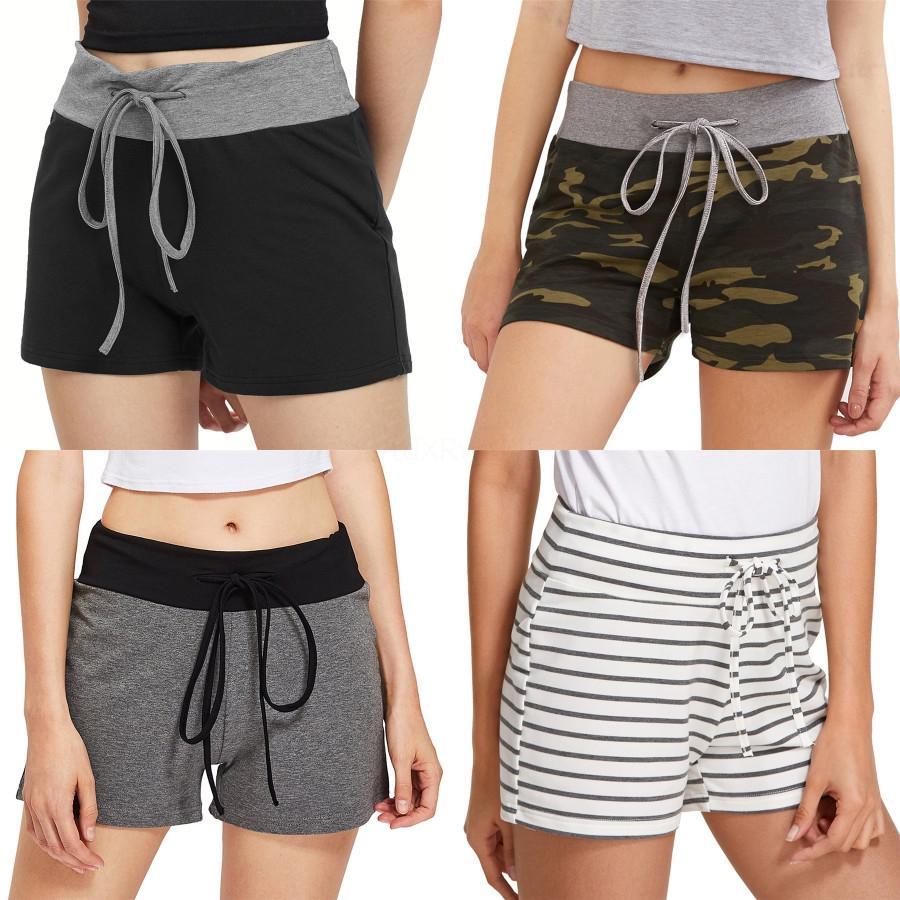 Botón de las mujeres calientes del verano pone en cortocircuito pantalones cortos de cintura alta Jean elástico flaco rasgado # 1161