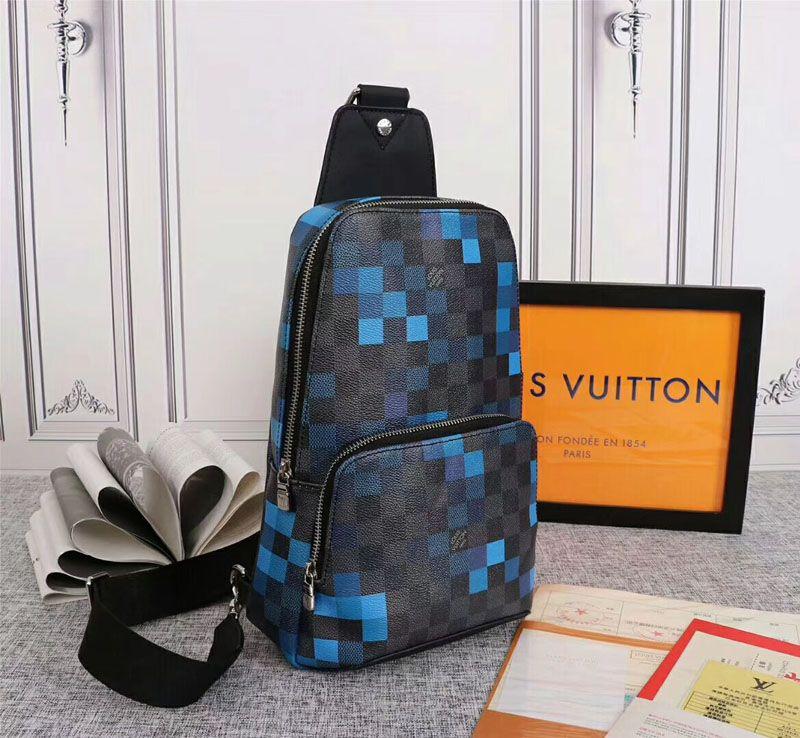 Luxury Avenue Man Chest сумка Damier Graphite Пиксель 5A L V1783 Моды Мужчины Женщина Geronimos Crossbody сумка Открытого спорт плечо мешок сумка