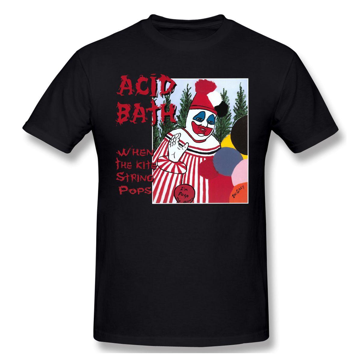 Acid Bath cuando la cometa cadena Pops camiseta de los hombres camiseta básica camisa divertida Diseño fatalidad Streetwear Imprimir Homme superior del envío libre