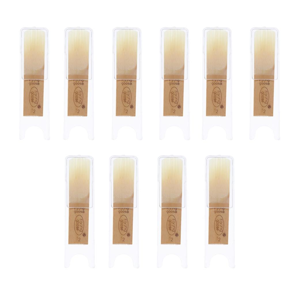 10 Pcs Soprano Saxophone Reeds tamanho diferente para instrumento de sopros