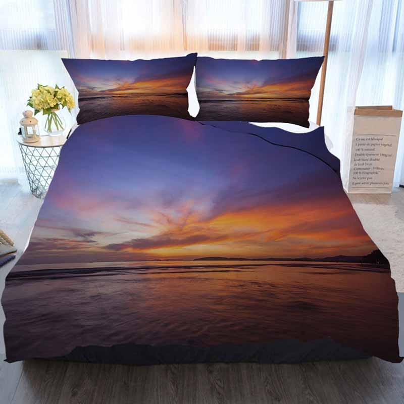 Sunset Постельные принадлежности 3 шт Пододеяльник наборы, Удивительный закат, Home Luxury Мягкое пуховое Одеяло Обложка