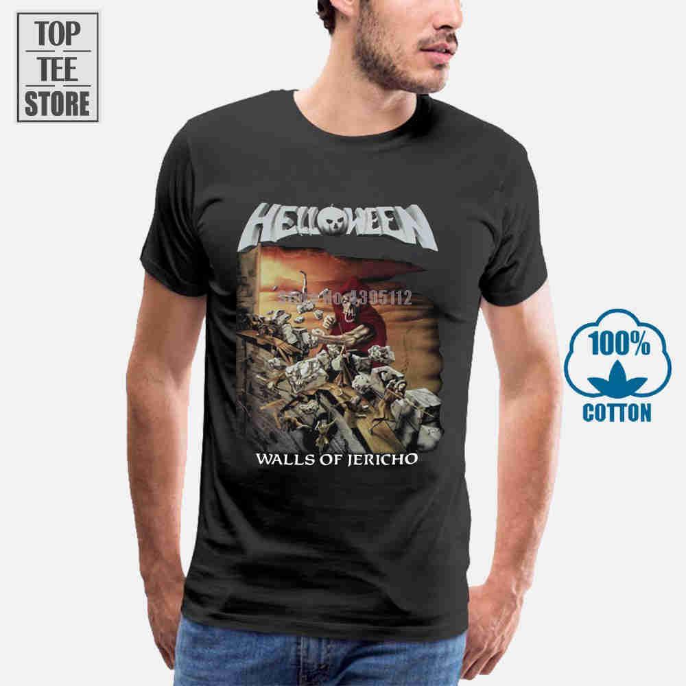Helloween muros de Jericó 1985 da tampa do álbum camiseta