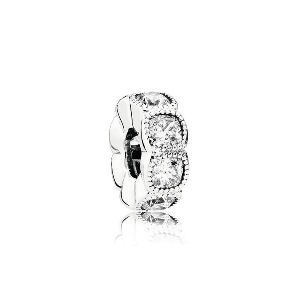 NEW 100% стерлингового серебра 1: 1 Гламурный 792027CZ заманчивые CUSHION РАСПОРНАЯ ШАРМ бисера Оригинальный женщин Свадебная мода ювелирные изделия +2018 подарков