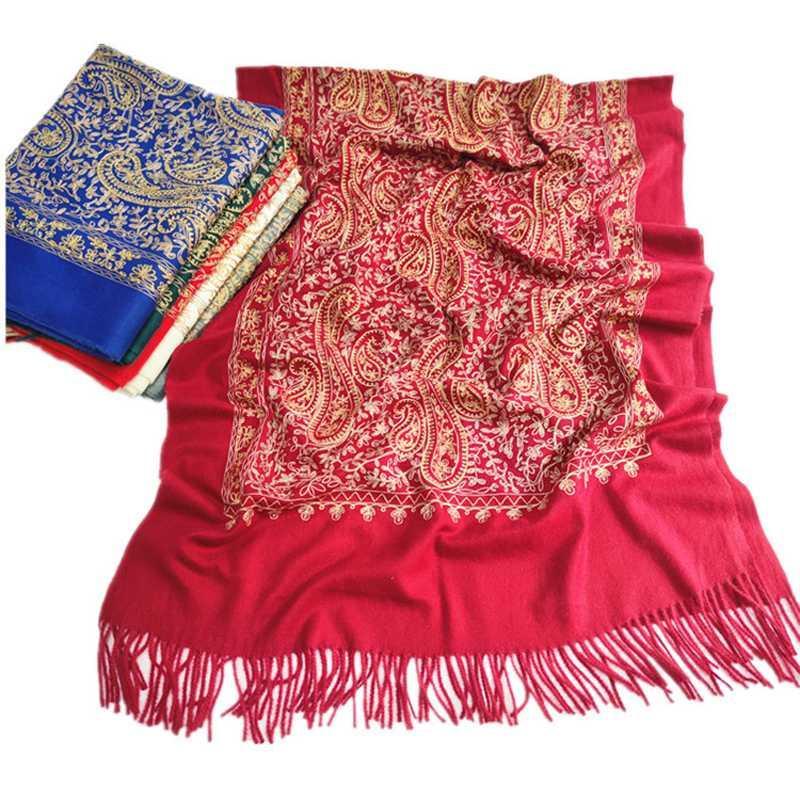 Tücher Spitze Stickerei Russisch Retro Stil Appliques Tücher Reise PO Square Decke Elegante Herbst und Winter Warme Schal Damen