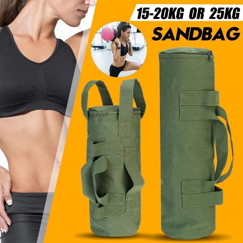 15-25kg Sac de sable Poids Poids lourd Poids de levage Crossfits Crossfits Fitness Power Sac Boxe Sable XTGGW