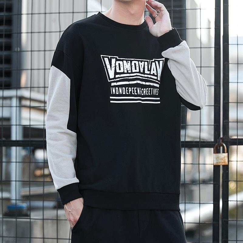 xI1Gs Erkek kazak yuvarlak boyun En rahat Sonbahar sweater2020 uzun Koreli moda stil üst Sweatert-shirt gevşek Yeni kollu tişört erkek bezi