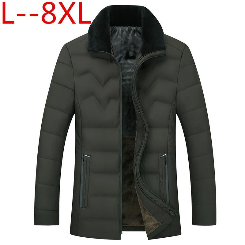 plus size 10XL 8XL 6XL inverno caldo del rivestimento per gli uomini cappotti allentati uomini casuali spesso strato maschio cotone sottile casuale caldo imbottito