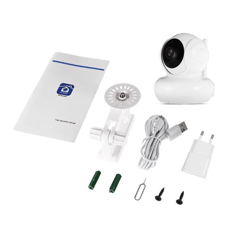 720P dupla antena sem fio Wi-Fi IP Camera Home Security Vigilância Câmara Cabeça Balançando Alarme Local monitor Indoor