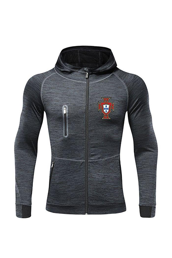 Португалия FC Новый футбол куртка Дизайн Лучший Мужчины Футбол Tracksuit Месси Джерси Полный Zip разогреть Футбол Tracksuit