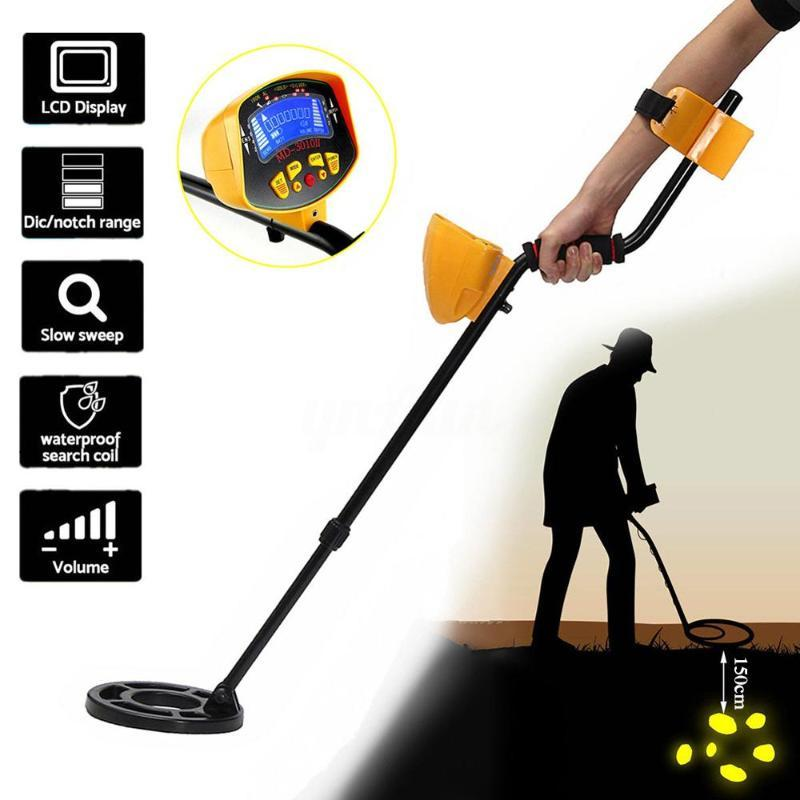 MD-3010II Underground Metal Detector Fully Automatic Silver Gold Digger Light Deep Sensitive LCD Display Hot Sale