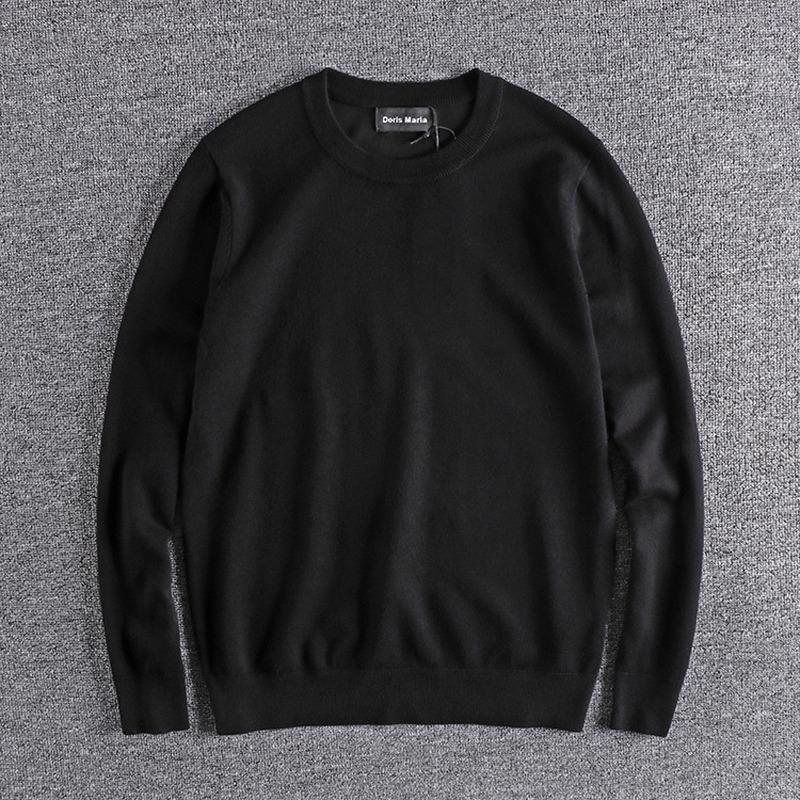 Men's sweater menwinter new thin section sweater men's round neck pulover de hombre knitted men vintage
