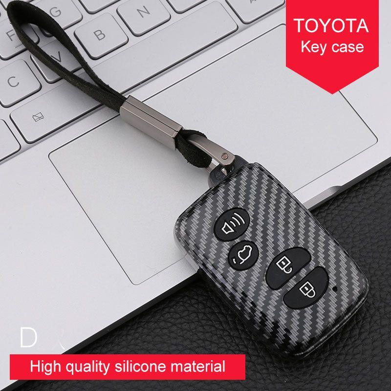 Металлическая пряжка материал силикона ключа автомобиля Дело Крышка для Toyota Previa ZELAS Camry Fj CRUISER PRADO