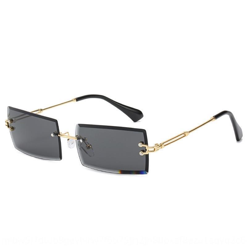 2v9mA Frameless sonnt neue personalisierte Internet Berühmtheit Berühmtheit Sonne Platz Trimmen Art und Weise kleine Gläser Frauen-Brille
