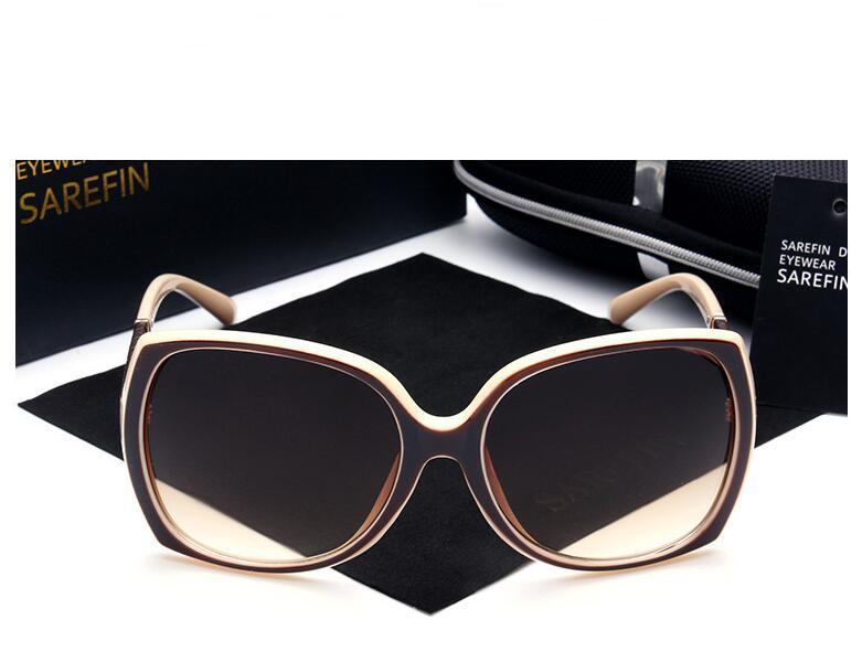 Luxusmarken Designer-Sonnenbrillen Frauen Retro Vintage Schutz Female Fashion Sonnenbrillen Frauen Sonnenbrillen Vision Care mit Logo