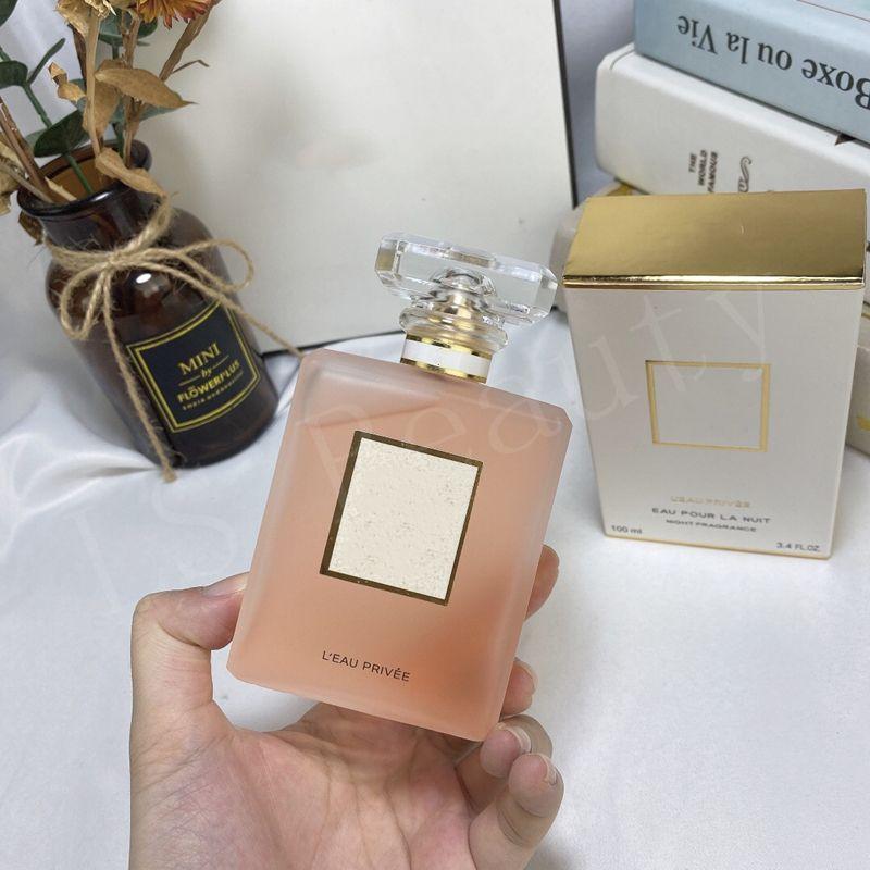 Nova chegada para a senhora L EAU PRIVEE EAU POUR LA NUIT NOITE Fragrance koko 100ML para as mulheres fresco e duradoura fragrância do perfume