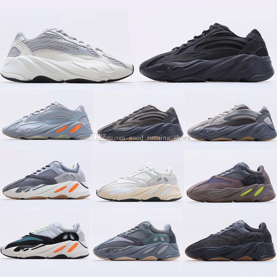 2020 nouveau Kanye West 700 Chaussures de roulement de glissière bleue Teal pour hommes Femmes Wave Runner Runner Isertia Tephra Magnet Vanta analogique Sneaker statique