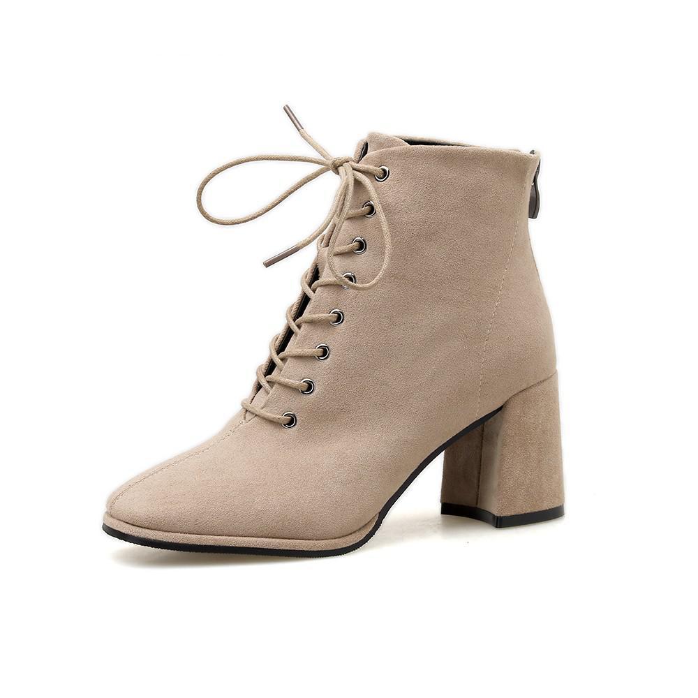 Женские короткие ботинки Европа и Америка 2020 осень и зима новая мода густые каблуки женские туфли сексуальный размер 35-39